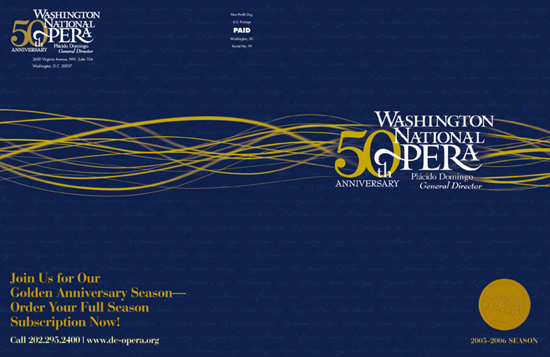 Washington National Opera 50th Anniversary