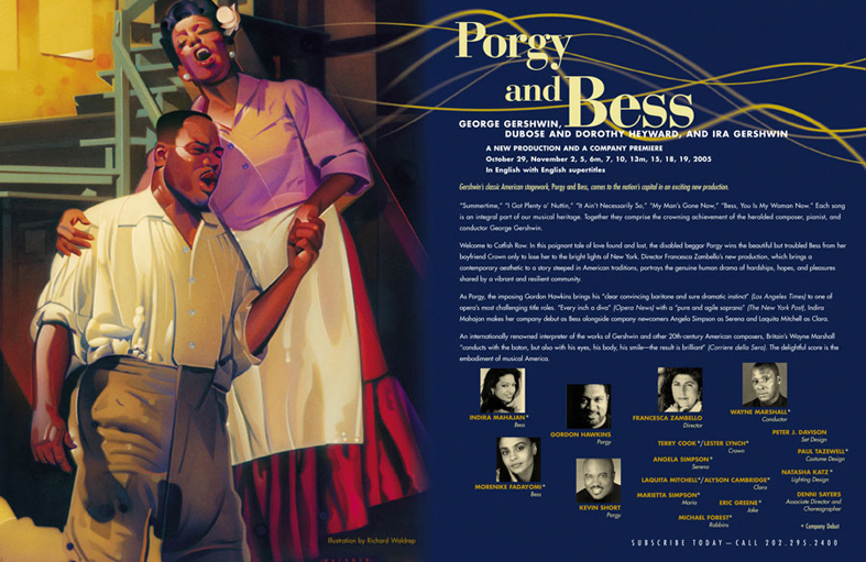 "Washington National Opera 50th Anniversary ""Porgy and Bess"""